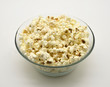 popcorn in glass bowl
