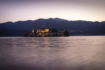 Orta San Giulio late afternoon color image
