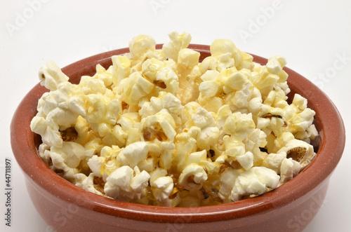 popcorn in bowl of mud