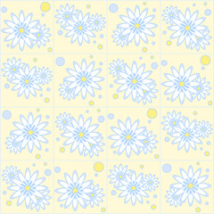 Seamless pattern with chamomiles