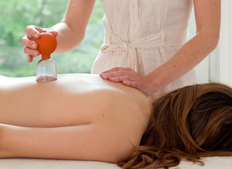 Female patient at the alternative practitioner