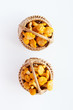 Лисички в плетенной корзине