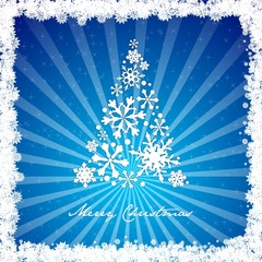 merry christmas tree snowflake