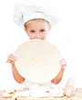 girl with pizza dough