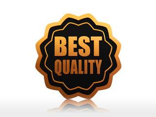 best quality starlike label