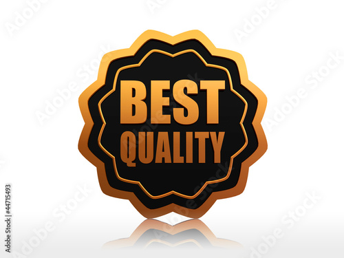 best quality starlike label