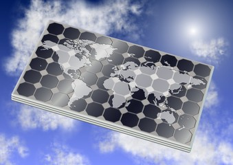 Solar panel and world