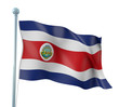 Costa Rica Flag Detail Render