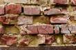 Old crumbling brick wall