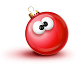 Whimsical Cartoon Christmas Ball Ornament
