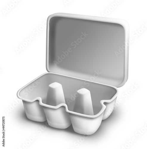 Illustrated Empty Egg Carton