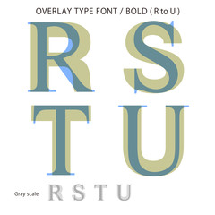 Overlay Type Font (Bold / R to U) #Vector