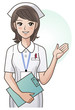 Young pretty nurse providing information, guidance