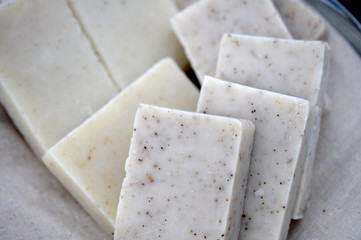 home-made soap bar