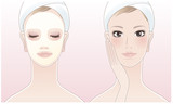 Beautiful spa woman with Facial cleansing Mask poster