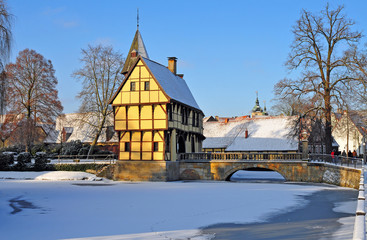 Schloss Steinfurt in Westfalen im Winter