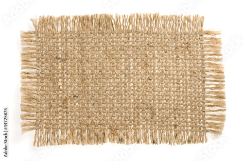 burlap hessian sacking isolated on white