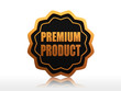 premium product starlike label