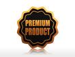 premium product starlike label