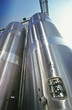 Stainless steel industrial silo