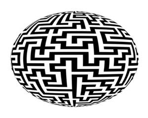 Laberinto maze esfera.