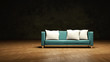 hellblaues modernes Sofa