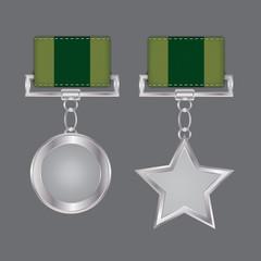 Webdesign Elements Stoff und Silber