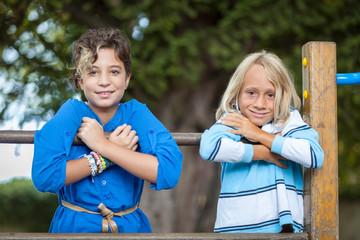 Happy Children Playing at Playground