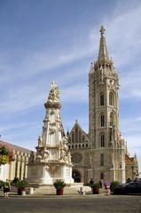 Die Matthiaskirche im Burgenviertel auf dem Burgberg in Budapest