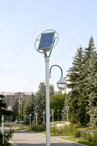 lantern and solar panel - 44731818