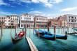 gondolas in Venice, Italy.
