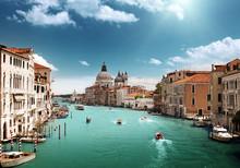 Grand Canal et Santa Maria della Salute Basilique, Venise, Italie