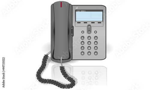 ip phone on a white background - 44733022