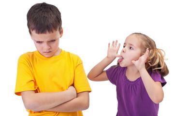 Mocking and teasing among children