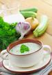 Vegetarian cold soup zucchini