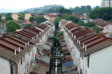 Houses in Kuala Lumpur city suburb