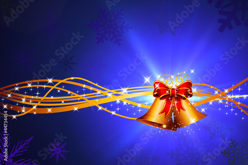 dark blue background with jingle bells