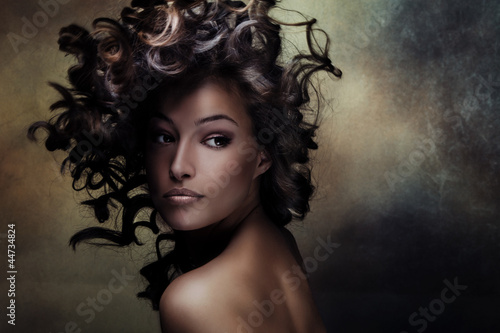 Wall mural black beauty