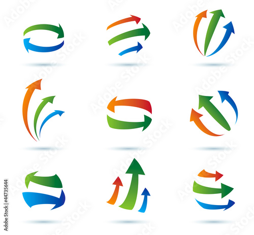 Abstract arrows vector icons collection