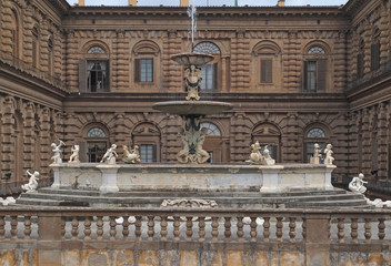 Pitti  Palace in Florence, Italy.