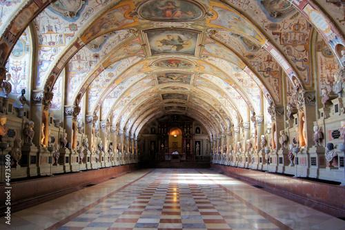 Leinwanddruck Bild Hall of Antiquities, Munich Residenz, Germany