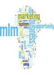 MLM Marketing Online System Concept