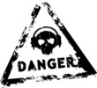 Danger sound vector rubber stamp