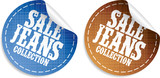 Sale Jeans collection tickers set poster