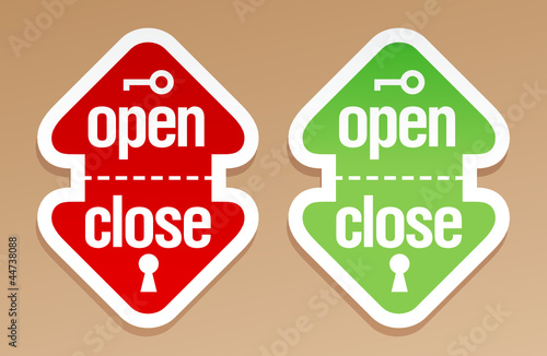 Open and close packing signs