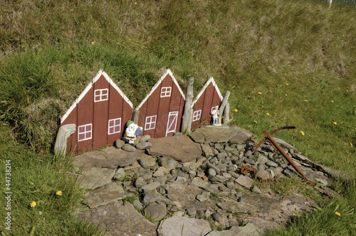 Small toy elf house in Iceland.
