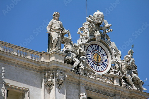 Clock on St. Peters Basilica