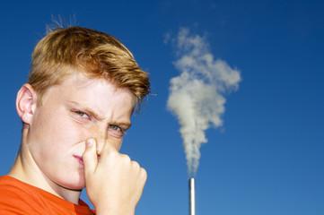 Umweltverschmutzung und Gestank
