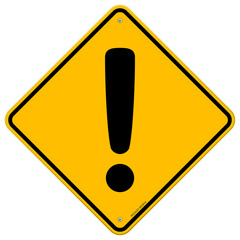 Exclamation Yellow Sign