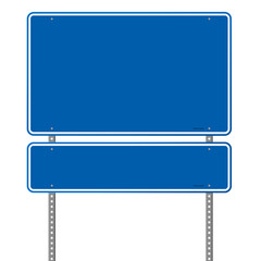 Blank Blue Road Sign